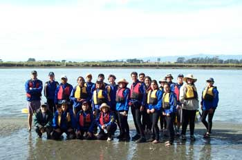 participants at a field trip to elkphor slough