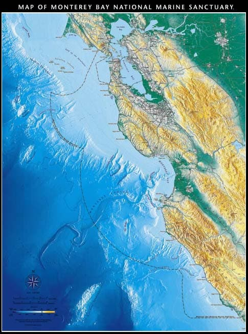 Map of Monterey Bay National Marine Sanctuary