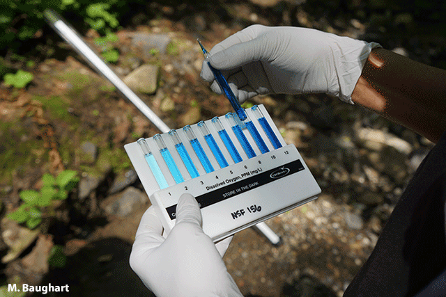 image of a kit that allow volunteers to test dissolved oxygen and collect other data in the field by M. Baughart
