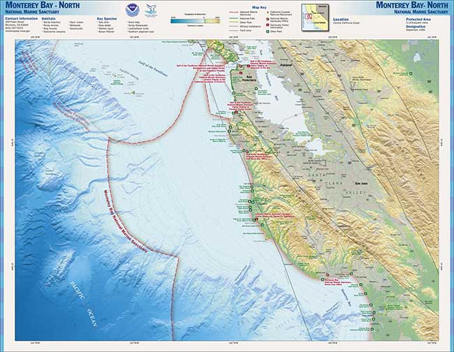 map of norther monterey bay national marine sanctuary