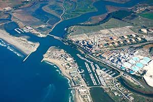 aeral photo of moss landing
