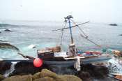 Grounded vessel in MBNMS