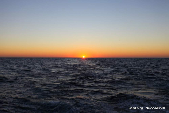 picture of sunset from R/V Wester Flyer