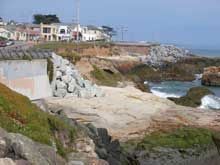 pacific Grove sea wall
