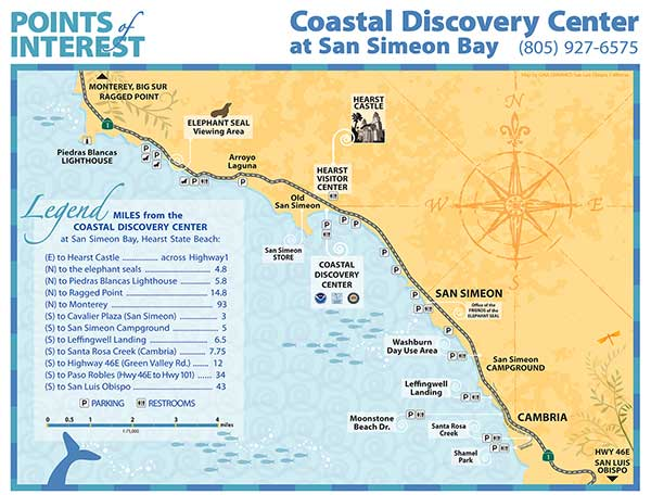 costal discovery center points of interest map