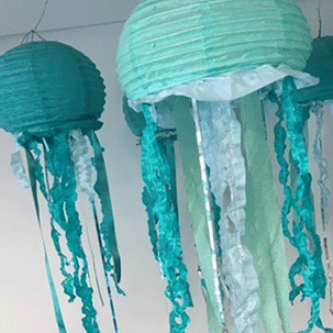 image of paper lantern jellies by Chelsea Prindle