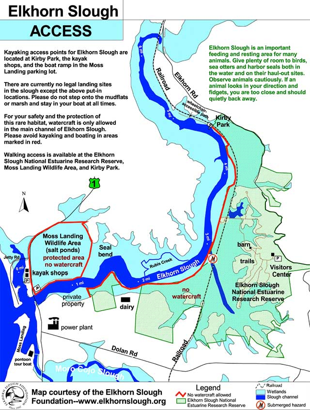 elkhorn slough access map