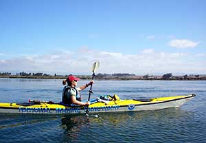 kayaker on elkhorn slough